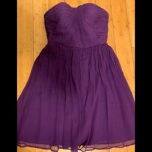 Donna Morgan plum silk strapless dress